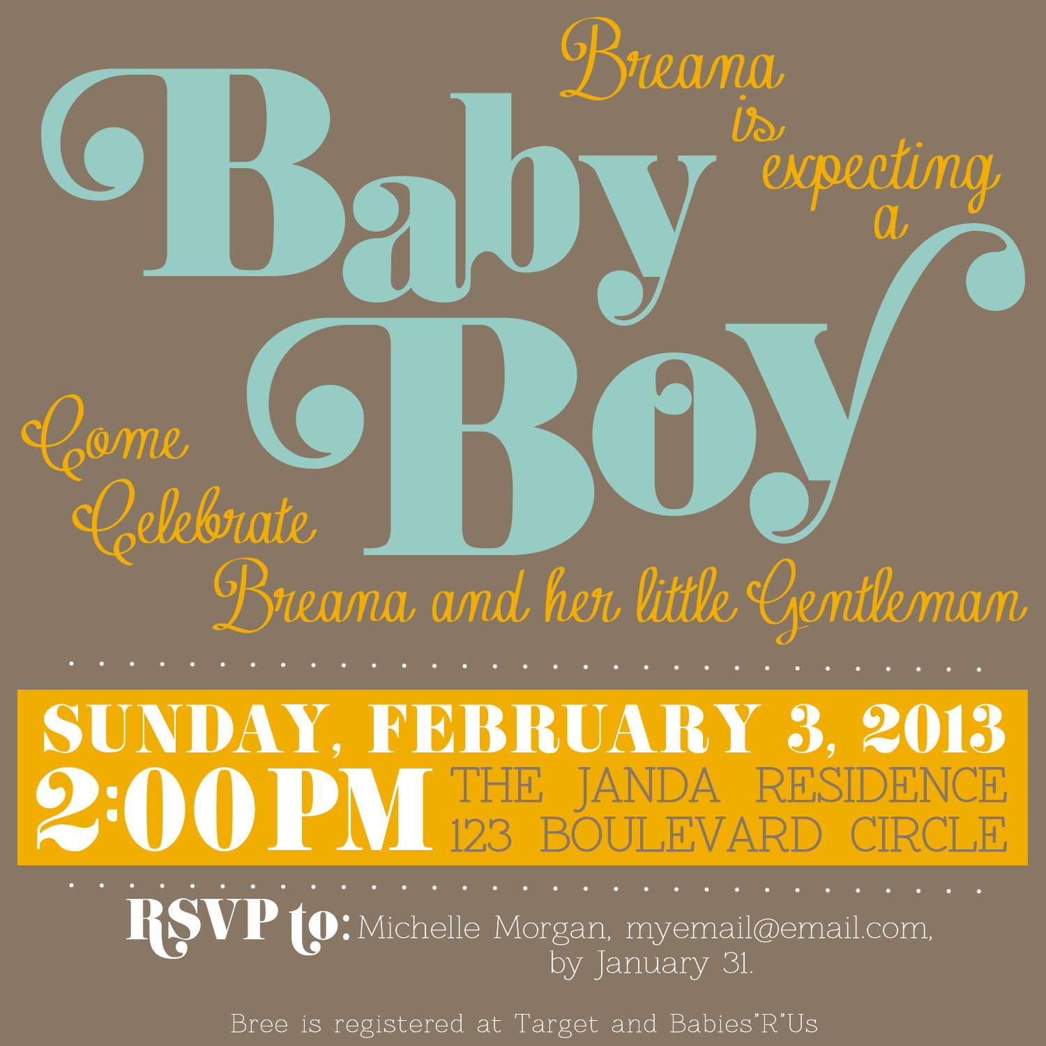 Baby Shower Poster Template