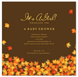Fall Baby Shower Invitations DolanPedia Invitations Template