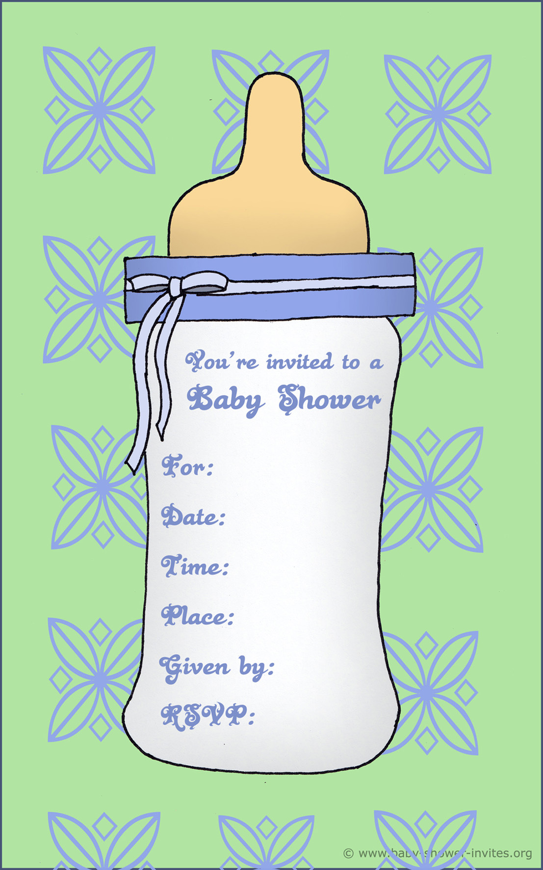 free baby shower invitation templates for boys - Roho.4senses.co