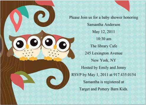 free baby shower invitation templates owl