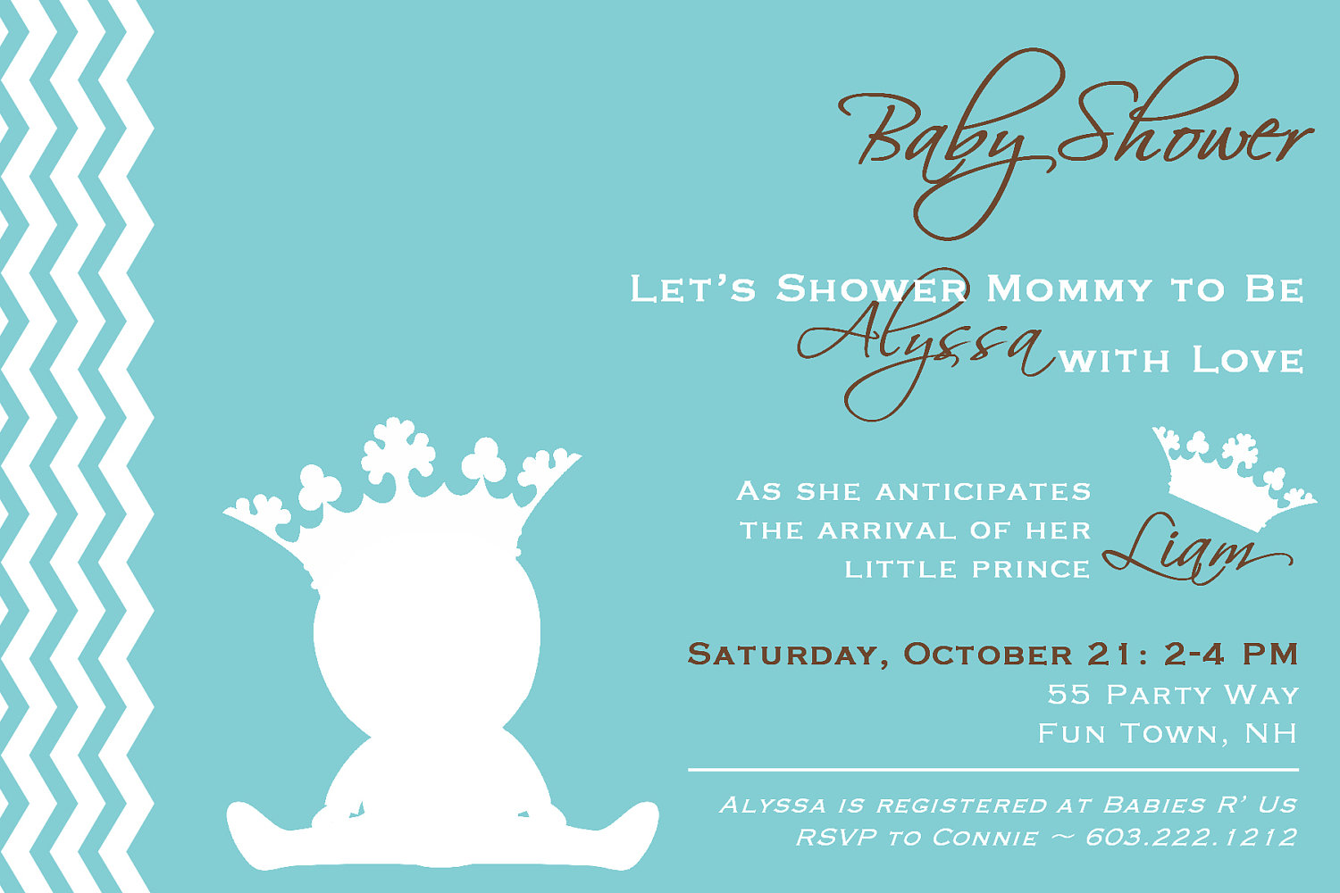 Prince baby shower invitations dolanpedia invitations template prince baby shower invitation filmwisefo