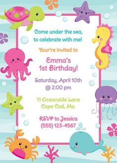 Under The Sea Baby Shower Invitations 2
