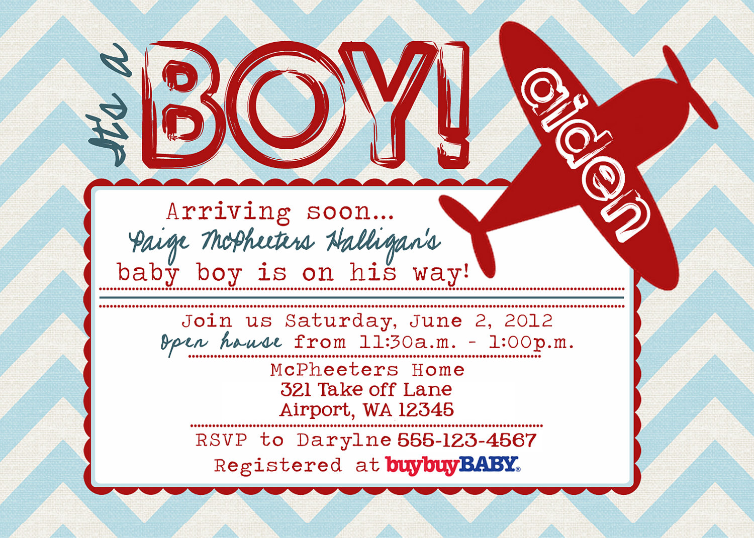Airplane Baby Shower Invitations | DolanPedia Invitations Template