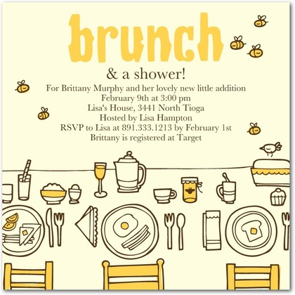 Brunch Baby Shower Invitations DolanPedia Invitations Template