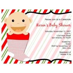 Christmas Baby Shower Invitation DolanPedia Invitations Template
