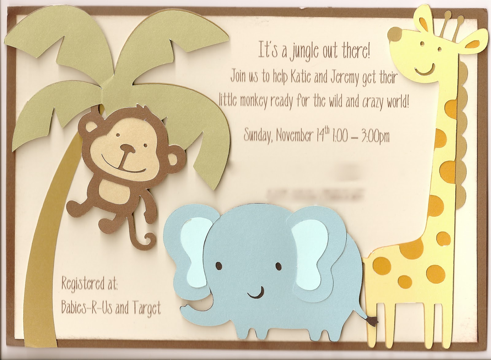 Animal Baby Shower Invitations DolanPedia Invitations Template