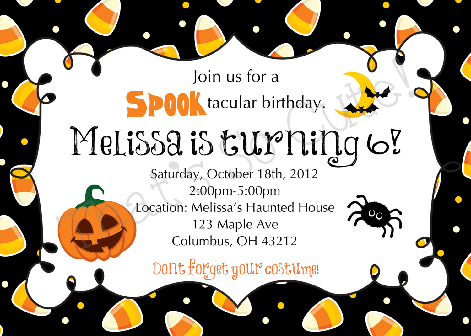 halloween birthday invitations template