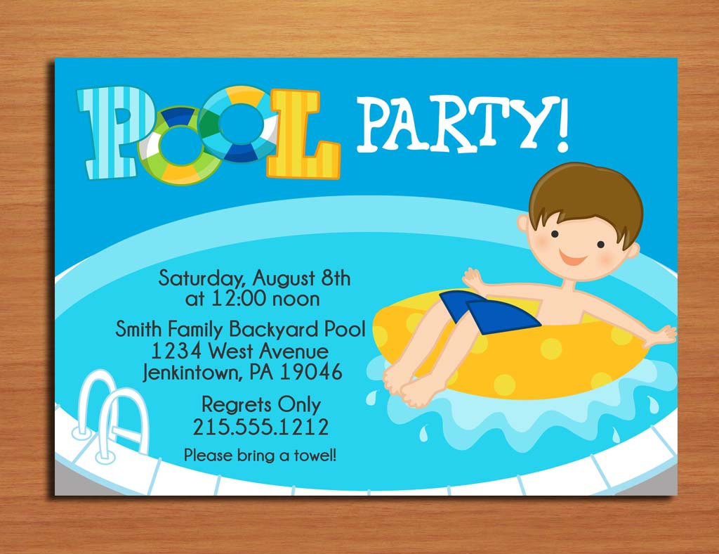 free printable birthday pool party invitations dolanpedia