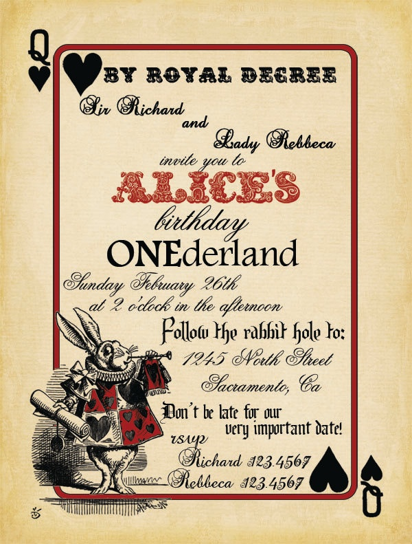 Free printable alice in wonderland birthday invitations free printable alice in wonderland birthday invitations maxwellsz