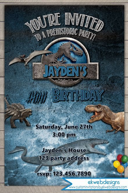 Print At Home Birthday Party Invitations