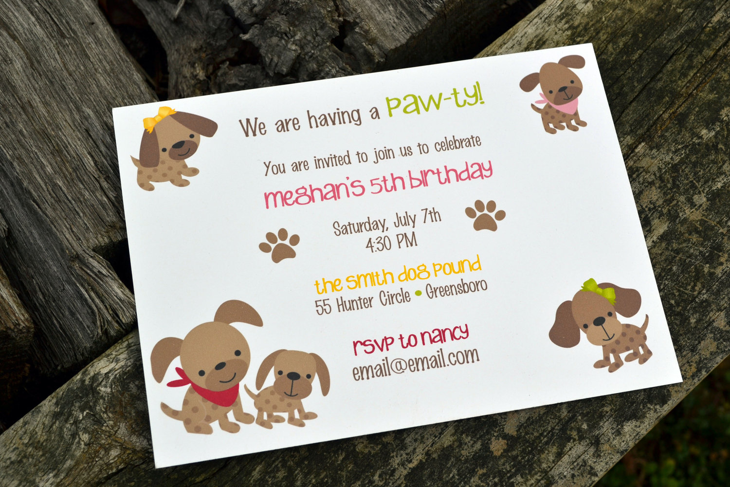 Completely New Dog Themed Birthday Party Invitations