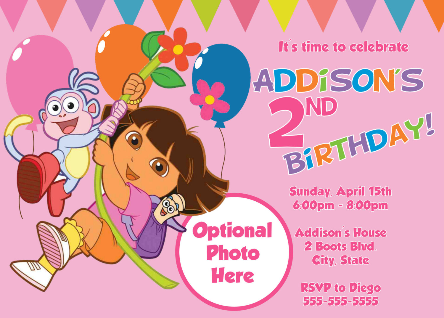 Dora The Explorer Birthday Party Invitations | | DolanPedia ...