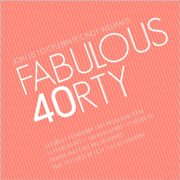 Surprise 40th birthday party invitation wording dolanpedia forty2 stopboris Image collections