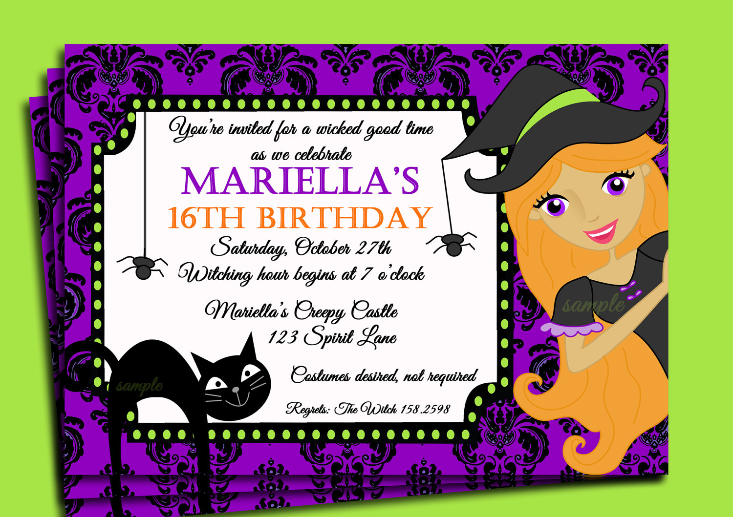 Halloween birthday party invitation wording dolanpedia halloween stopboris Image collections