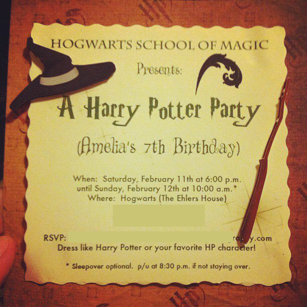 Harry Potter Invitations Template 7seii2ro