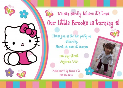 Hello Kitty Birthday Invitations Free DolanPedia Invitations