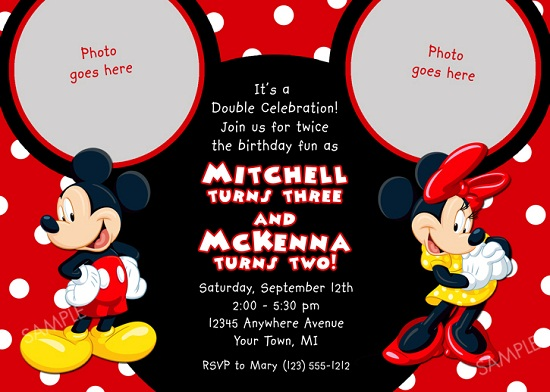 Mickey Mouse Birthday Party Invitations DolanPedia Invitations