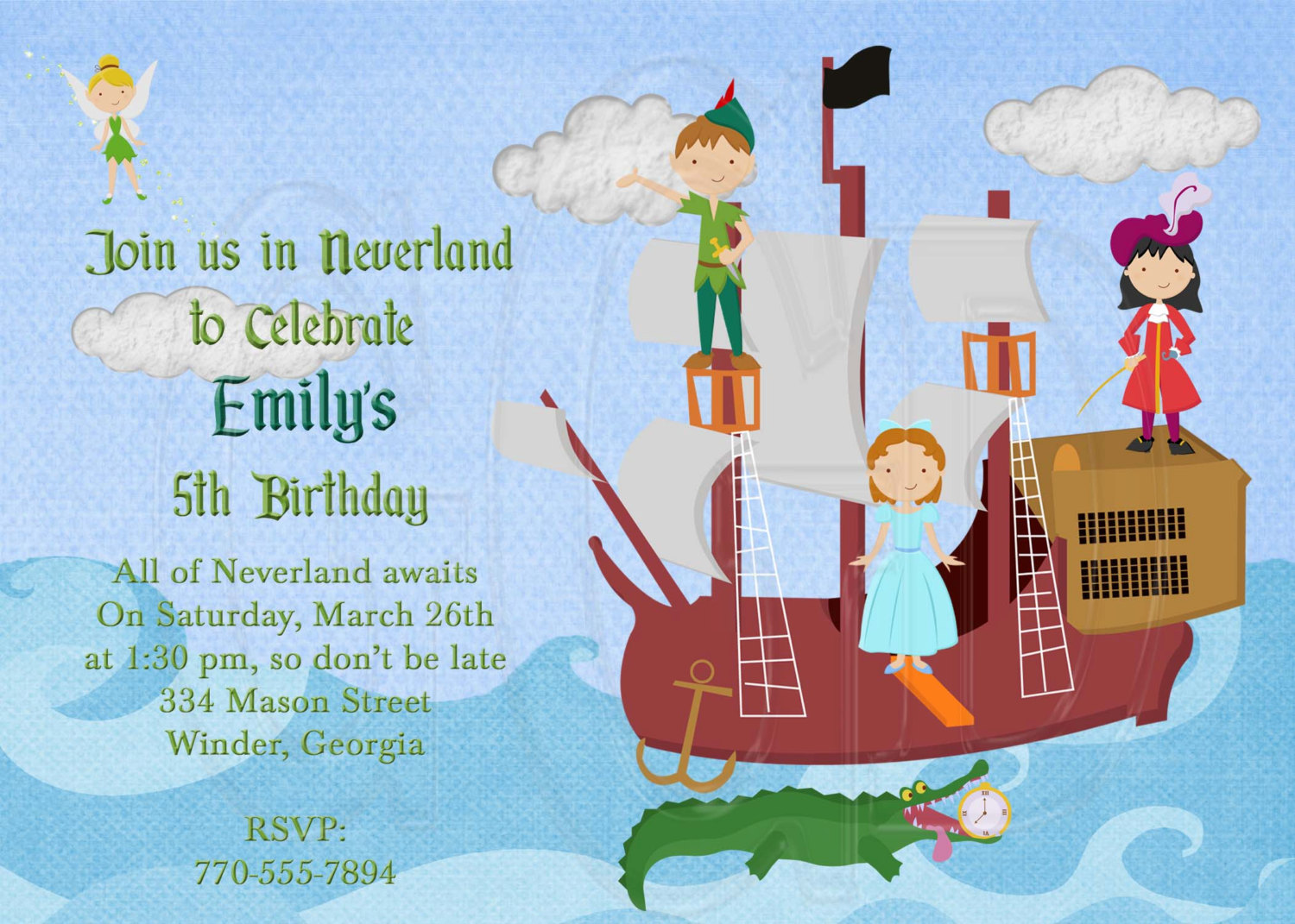 Peter Pan Birthday Party Invitations | | DolanPedia Invitations Template