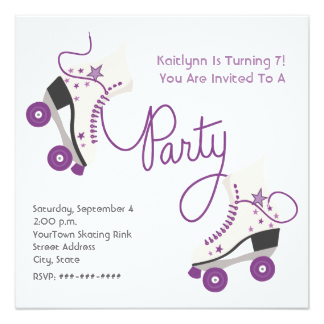 Roller Skating Birthday Party Invitation DolanPedia Invitations