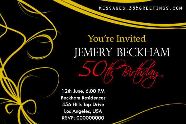 Free 50th Birthday Invitation Templates DolanPedia Invitations