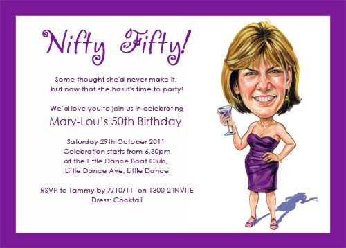 Funny 50th 2 Good Luck Preparing Your Party Birthdayfiftyinvitations