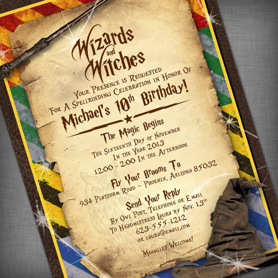 Harry Potter Birthday Invitations Printable DolanPedia