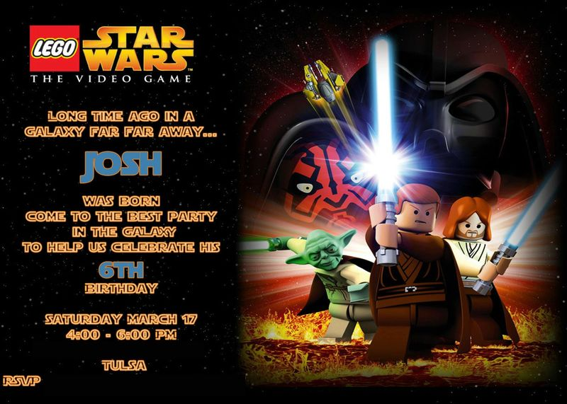 Free Star Wars Birthday Invitation Templates ~ Lego star wars birthday invitations dolanpedia invitations