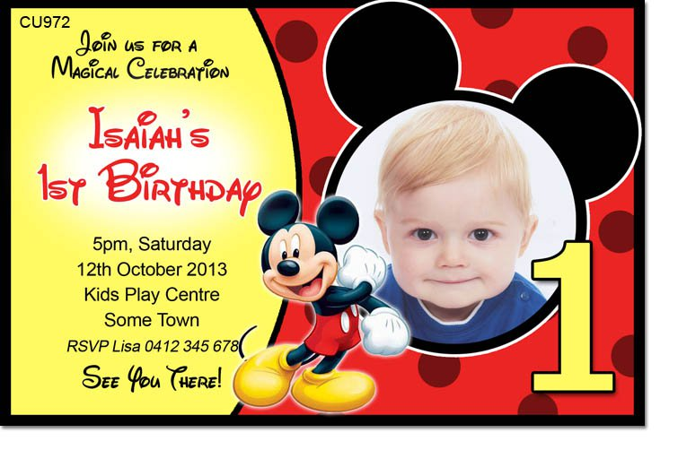 Mickey Mouse Clubhouse Birthday Party Invitations DolanPedia