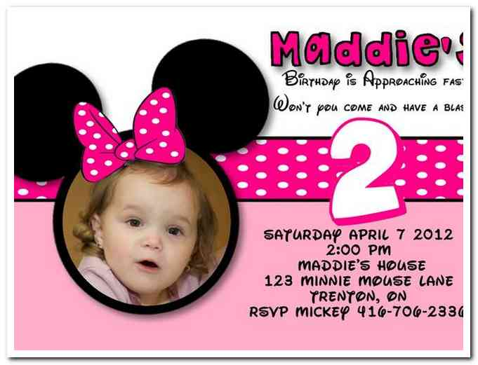 Try To Match Your Invitation Card With The Birthday Themed Minnie 2nd