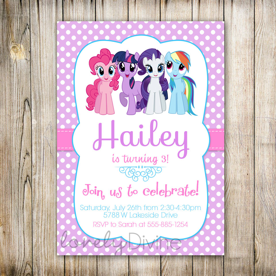 My Little Pony Personalized Birthday Invitations | | DolanPedia ...