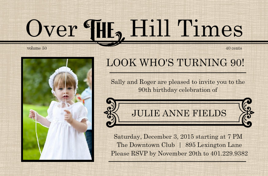 Free printable 90th birthday invitations dolanpedia invitations ninety2 filmwisefo