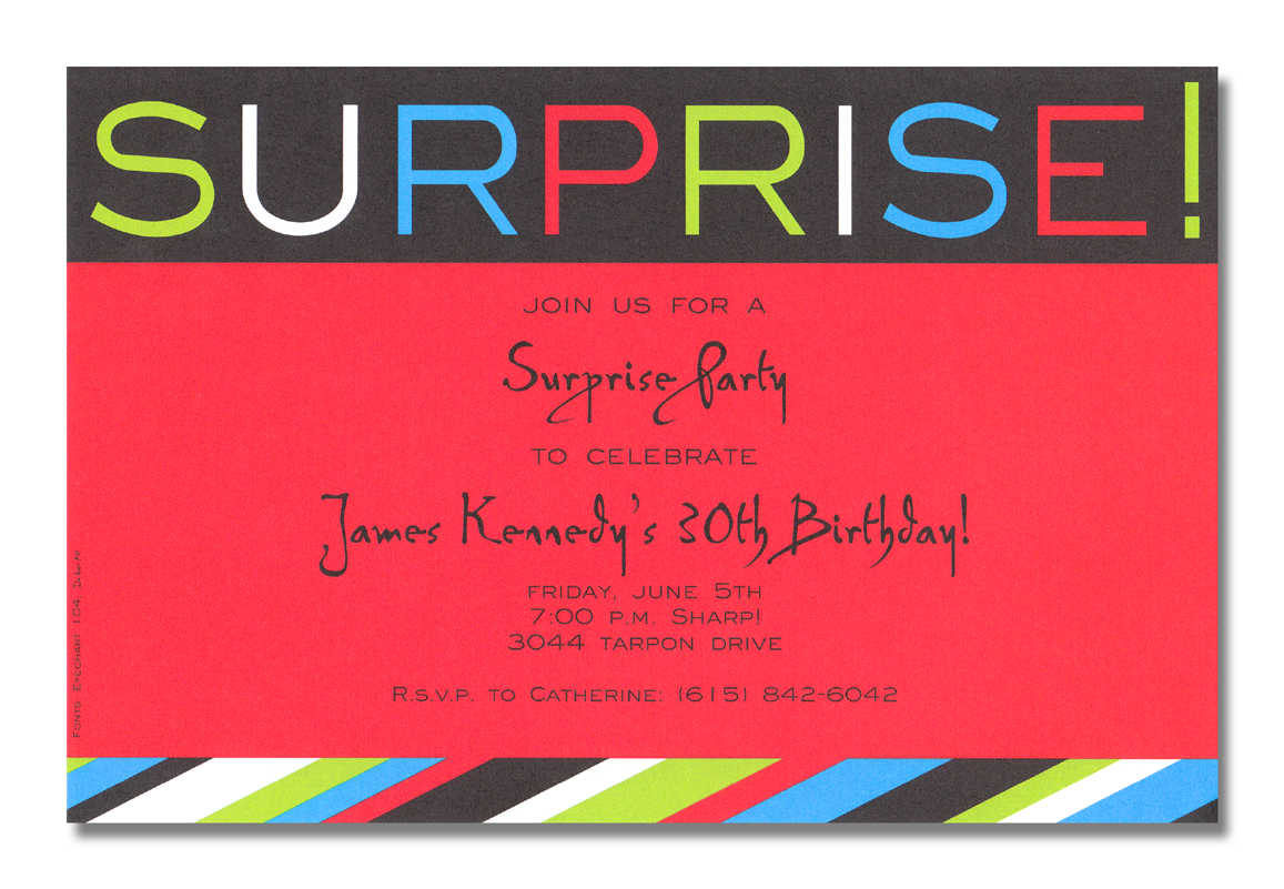 Surprise Party Birthday Invitations 8