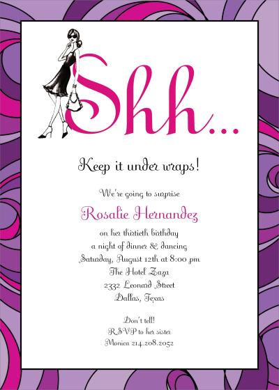 Surprise Birthday Invites Wording