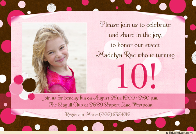 10th Birthday Party Invitation Wording Dolanpedia Invitations