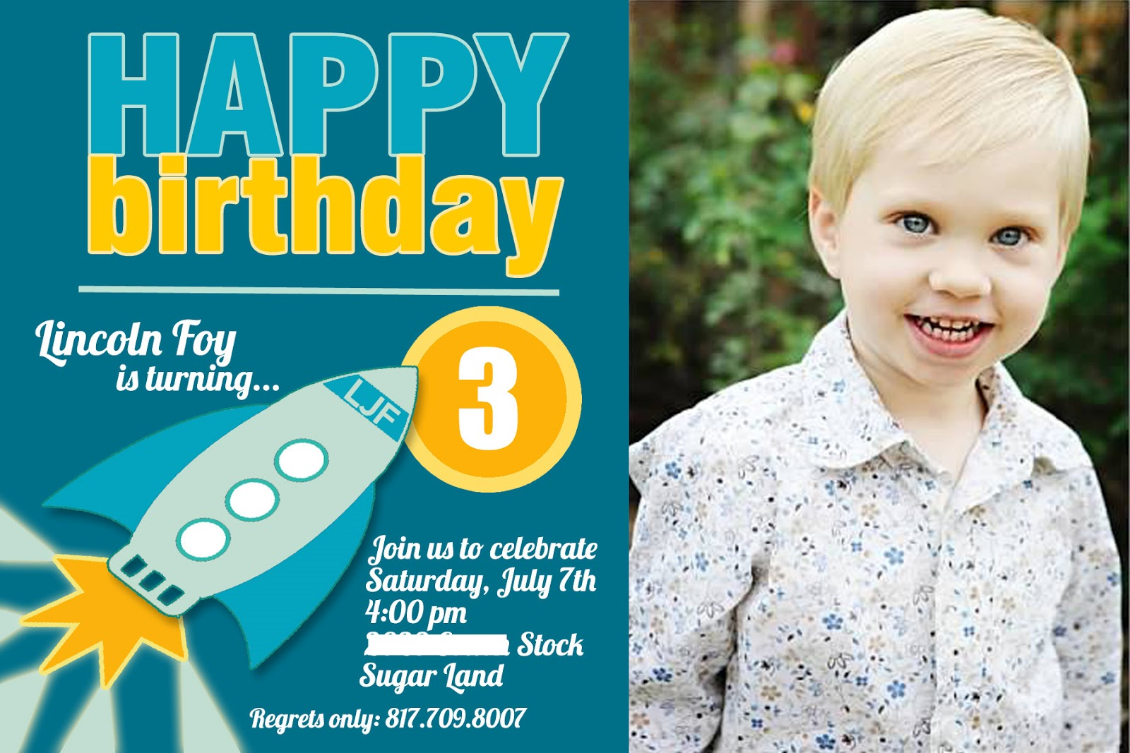 3rd Birthday Party Invitation Wording | | DolanPedia Invitations ...