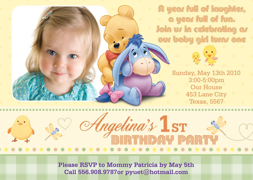 Fantastic One Year Birthday Invitations Crest - Invitation Card ...