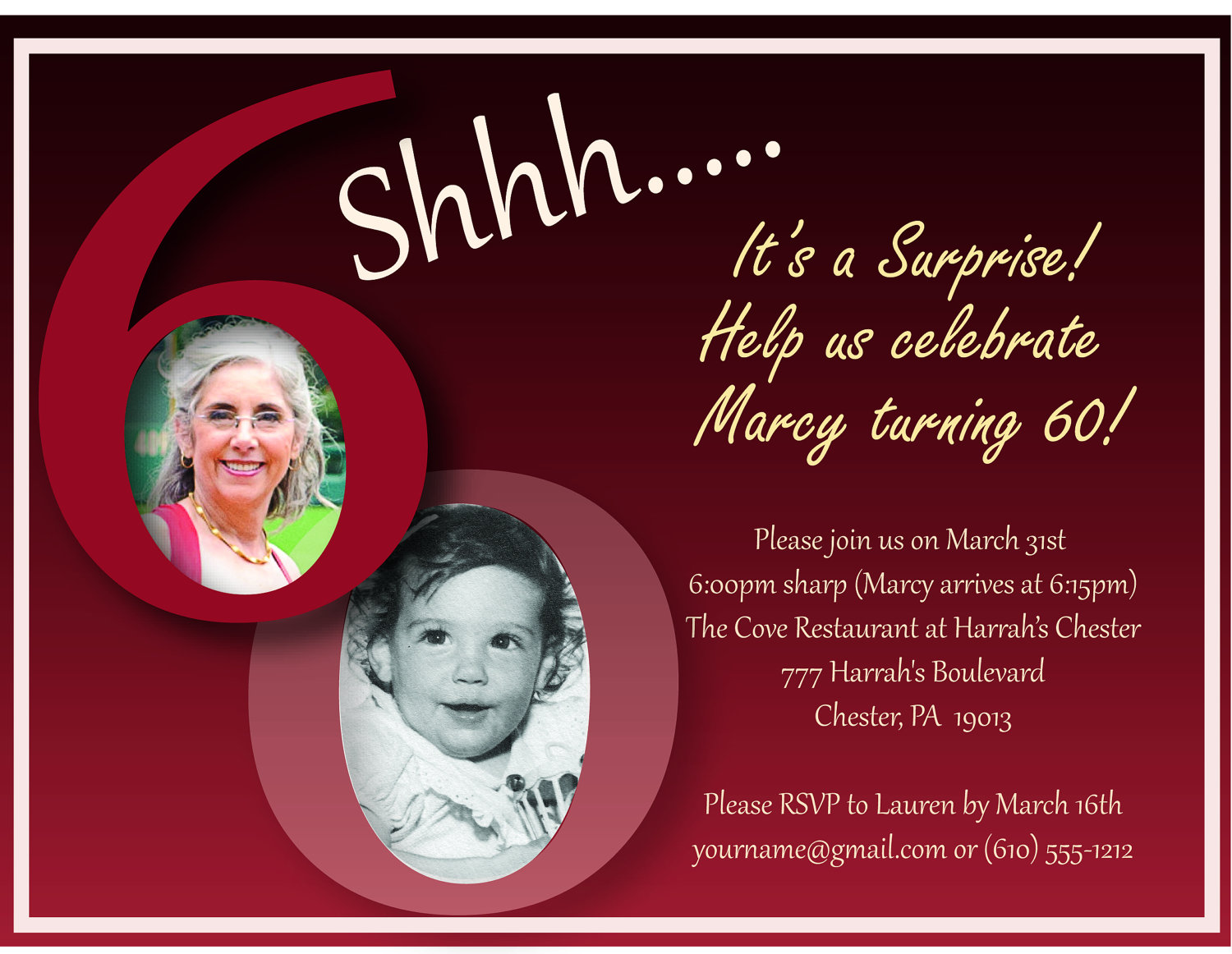 60th Birthday Invitations Vistaprint
