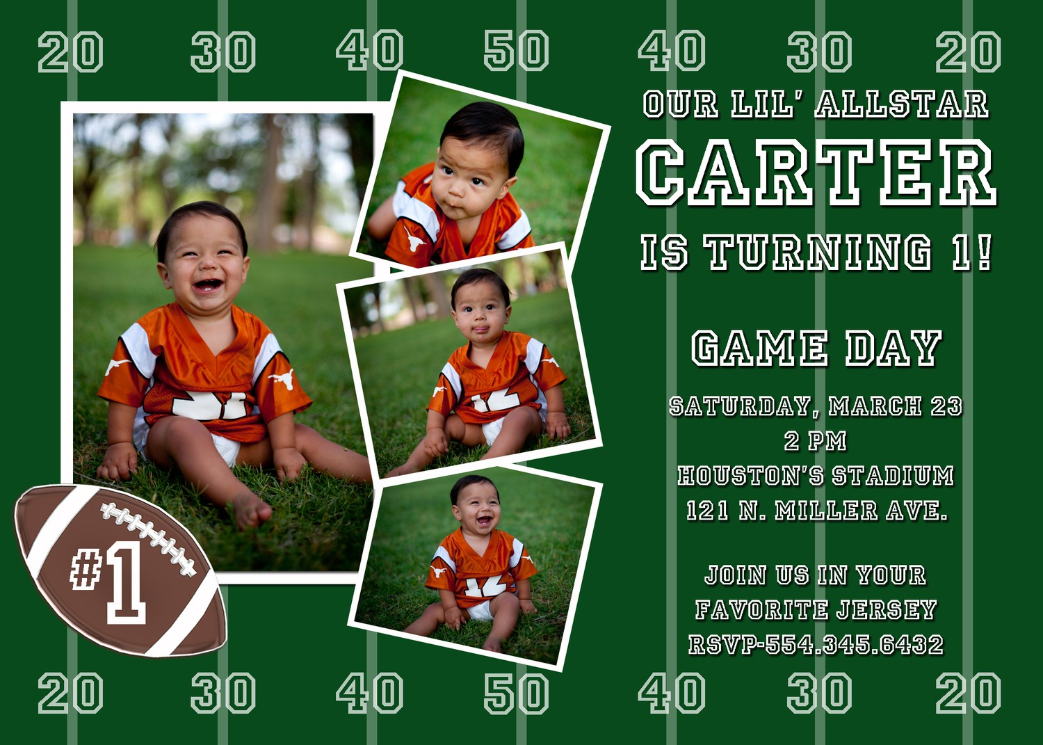 Free Printable Football Birthday Invitations DolanPedia
