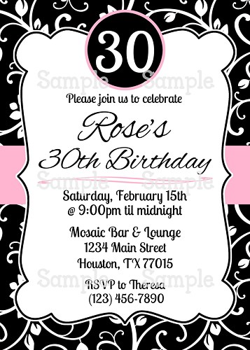 Black and white birthday party invitations dolanpedia black and white3 filmwisefo