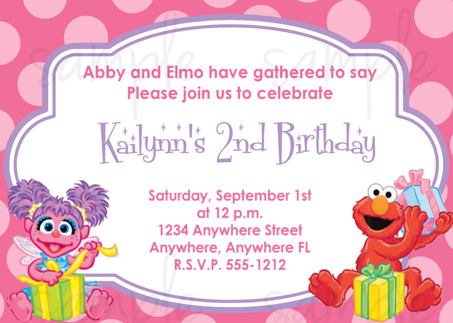 Elmo And Abby Birthday Invitations | | DolanPedia Invitations Template