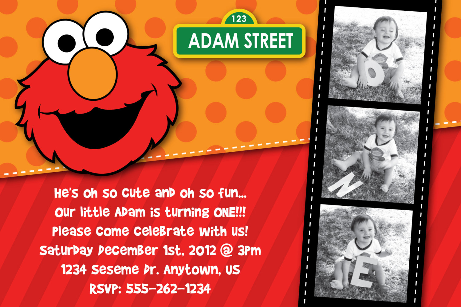 Sesame Street Themed Birthday Party Elmo1