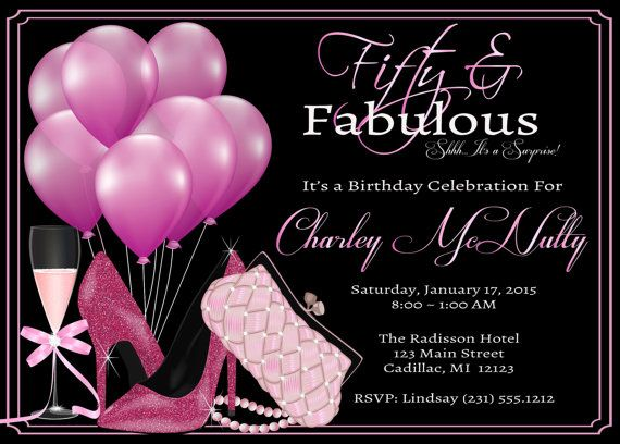 50th Birthday Invitations For Women