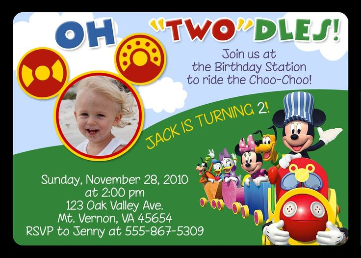 mickey mouse bday invitations Josemulinohouseco