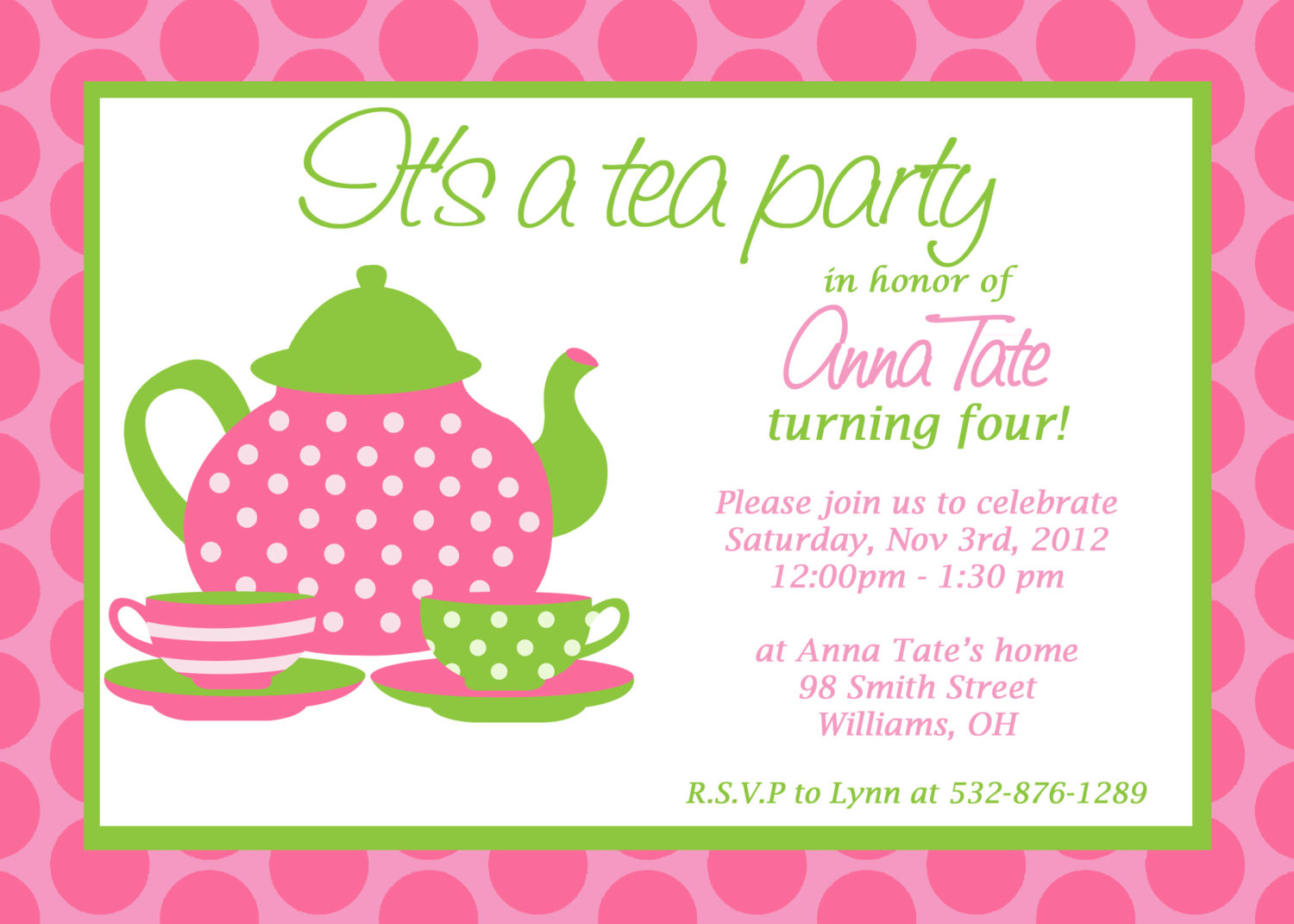 Princess Tea party Birthday Invitations DolanPedia Invitations