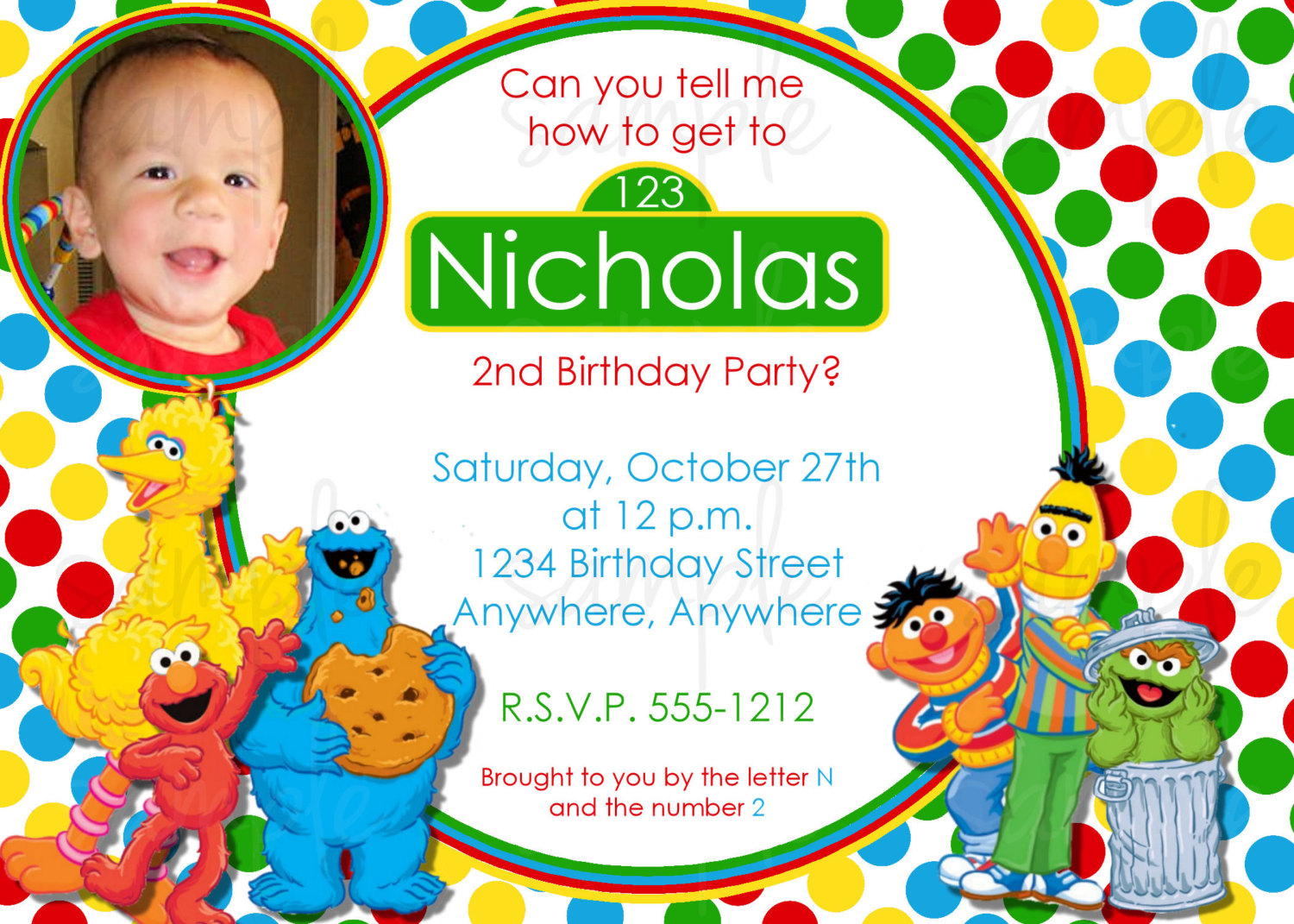 Free Printable Sesame Street Birthday Invitations