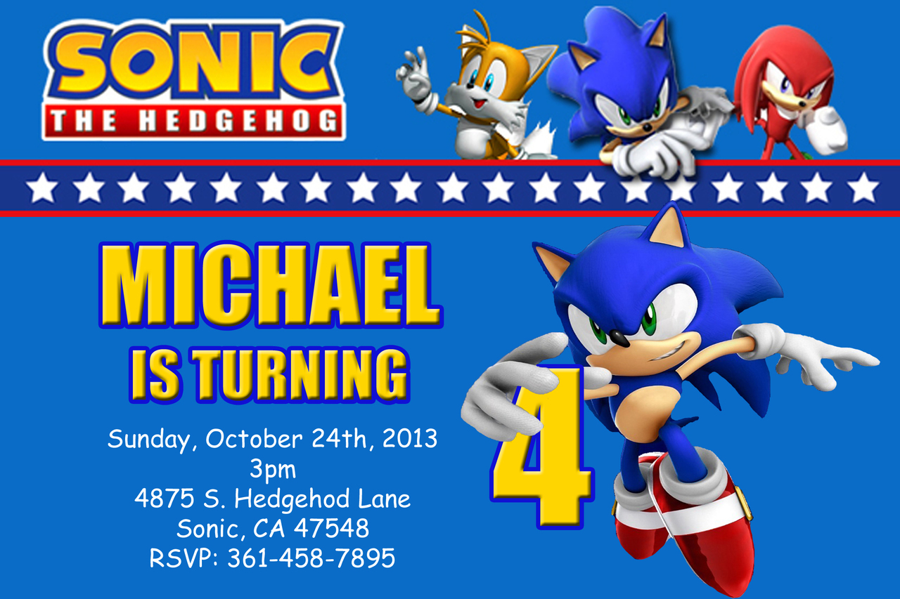 Sonic The Hedgehog Birthday Invitations DolanPedia Invitations