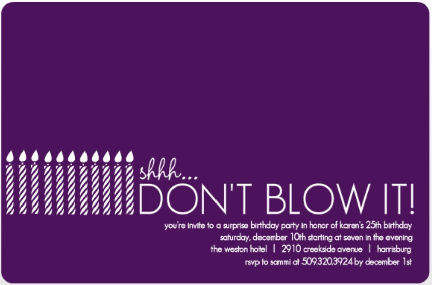 Surprise Party Birthday Invitations 1