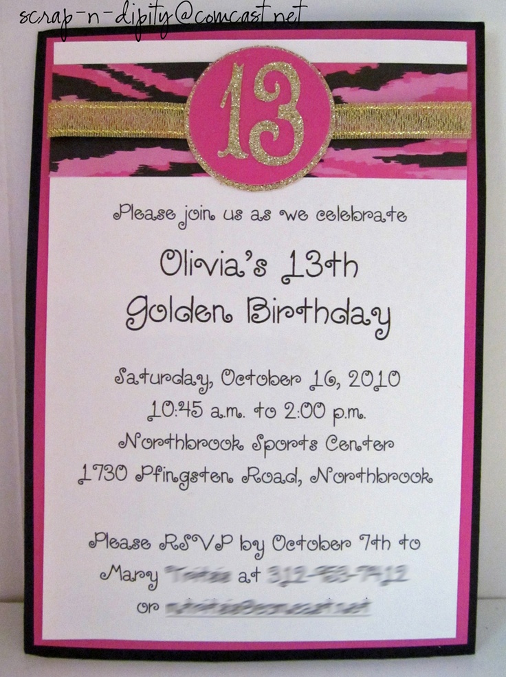 13th Birthday Party Invitation Wording DolanPedia Invitations
