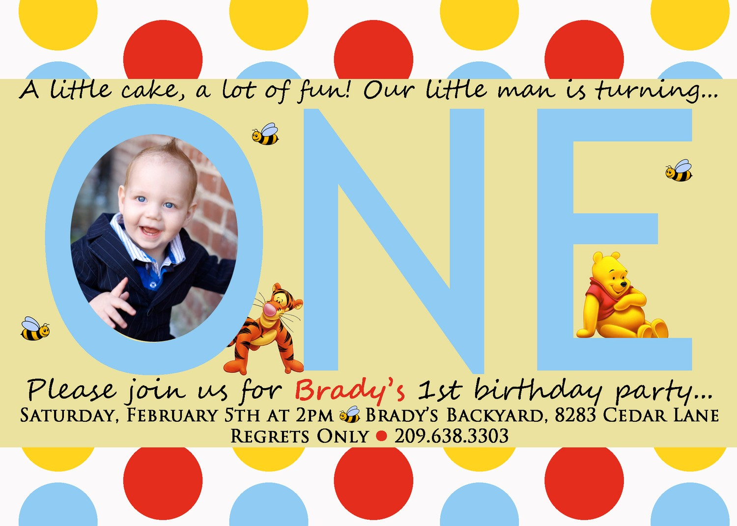 Winnie the pooh invitations for 1st birthday dolanpedia winnie the pooh invitations for 1st birthday stopboris Choice Image