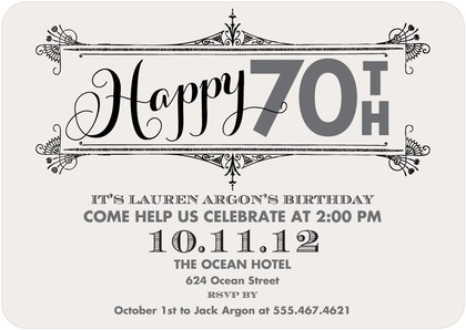70th Birthday Party Invitations 2